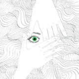 портрет женщины Рук-чертежа beaty Стоковое Фото