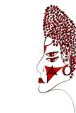 Портрет женщины Священная иллюстрация вектора Стоковое Фото