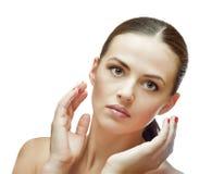 Портрет женщины спы брюнет Стоковые Изображения RF