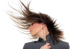 Портрет женщины с красивыми волосами Стоковая Фотография