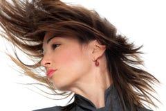 Портрет женщины с красивыми волосами Стоковые Изображения