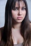 Портрет женщины с милой стороной без состава Стоковые Фото