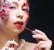 Портрет женщины с художническим составом Роскошное изображение Стоковое Фото