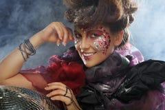 Портрет женщины с художническим составом Стоковое Фото