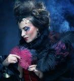Портрет женщины с художническим составом Стоковая Фотография RF