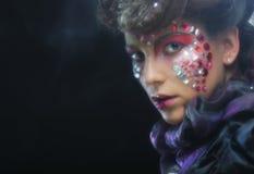 Портрет женщины с художническим составом Стоковые Фото
