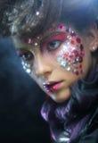 Портрет женщины с художническим составом Стоковое фото RF