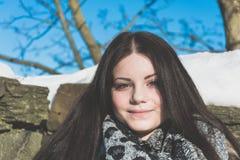 Портрет женщины с шарфом Стоковое Изображение RF