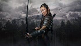 Портрет женщины эльфа с шаром Стоковое Фото