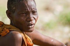 Портрет женщины Hadzabe Стоковая Фотография