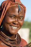 Портрет женщины Himba Стоковое Изображение
