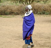 Портрет женщины Masai стоковое изображение rf