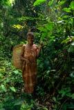 Портрет женщины pigmy Baka в запасе Dja, Камеруне Стоковое Изображение RF