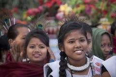Портрет женщины Tharu, Непала Стоковые Фото