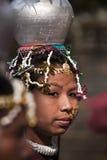 Портрет женщины Tharu, Непала Стоковая Фотография