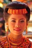 Портрет женщины Toraja в традиционном платье Стоковые Изображения