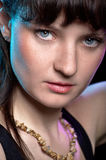 Портрет женщин детальный Стоковая Фотография RF