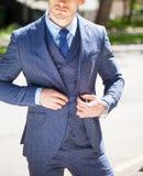 Портрет жизнерадостного бизнесмена стоковое изображение