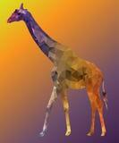 Портрет жирафа низко поли Стоковое Изображение