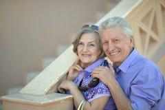 Портрет забавных старших пар Стоковое Фото