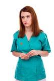 Портрет заботливых женских доктора или медсестры Стоковое Изображение RF