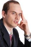 Портрет задумчивого исполнительного человека стоковая фотография