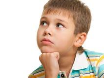 Портрет задумчивого мальчика стоковая фотография rf