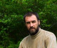 Портрет задумчивого взрослого мужчины Стоковое Изображение RF