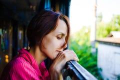 Портрет задумчивой женщины Стоковая Фотография