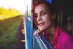 Портрет задумчивой женщины Стоковые Изображения