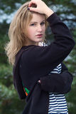 Портрет зимы девушки Стоковые Изображения RF