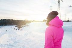 Портрет зимы женщины Стоковая Фотография