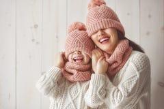 Портрет зимы семьи Стоковое фото RF