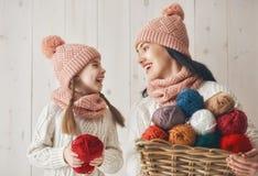 Портрет зимы семьи Стоковые Изображения RF