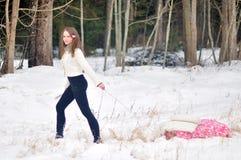 Портрет зимы Стоковая Фотография