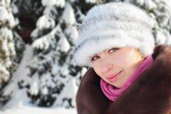 Портрет зимы стоковые изображения rf