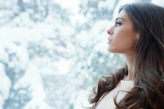 Портрет зимы Стоковое Изображение