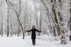 Портрет зимы стоковое фото rf