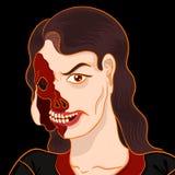 Портрет зомби Стоковые Фото