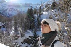 Портрет зрелой женщины в зиме Стоковая Фотография