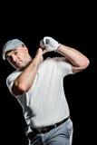 Портрет игрока гольфа принимая съемку Стоковое Изображение