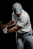Портрет игрока гольфа принимая съемку Стоковое Фото
