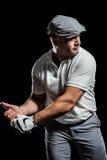 Портрет игрока гольфа принимая съемку Стоковое фото RF