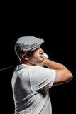 Портрет игрока гольфа принимая съемку Стоковая Фотография RF