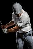 Портрет игрока гольфа принимая съемку Стоковая Фотография