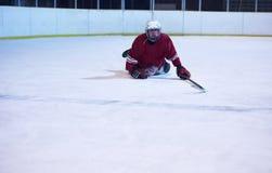 Портрет игрока хоккея на льде Стоковые Изображения