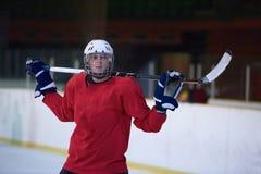 Портрет игрока хоккея на льде Стоковое фото RF