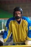 Портрет игрока хоккея на льде Стоковое Фото