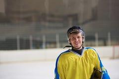 Портрет игрока хоккея на льде Стоковое Изображение