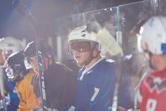 Портрет игрока хоккея на льде Стоковые Фотографии RF